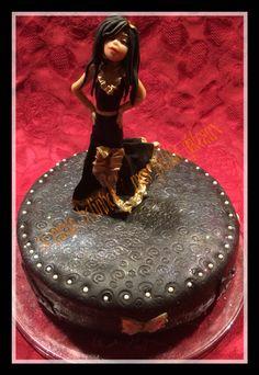 Fashionista latin dancer cake