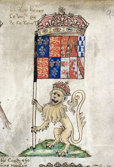 """The Lion of Henry VIII. From """"Prince Arthur's Book"""". Patrick Baty: I had great fun working with this 16th century book while researching the Hampton Court Palace Tudor Garden project - patrickbaty.co.uk/"""