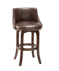 Hillsdale Napa Valley Swivel Bar Stool - Brown Leather