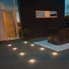 String Lights Outdoor Backyards - New ideas Christmas String Lights, String Lights Outdoor, Patio Lighting, Strip Lighting, White Pebbles, My Dream Home, Backyard, Warm, Bulbs