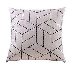 Embrace Cotton Linen Decorative Throw Pillow Case Cushion Cover Argyle Pattern…