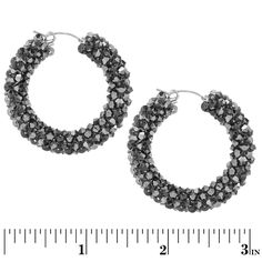 Sparkling Nights Earrings | Fusion Beads Inspiration Gallery | DIY Jewelry