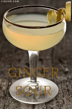 A spicy take on the classic sour, this four-ingredient and easy-to-make cocktail recipe calls for ginger vodka. The Ginger Sour adds a dash of maple syrup for a little sweetness!