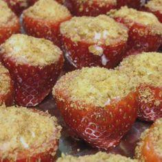 Tasty Cheesecake #Stuffed_Strawberries. Click For Recipe