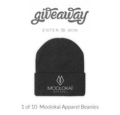1 of 10 Moolokai Apparel Beanies Website Promotion, Follow Us On Twitter, You Must, Giveaway, Friday, Beanie, Sign, Facebook, Instagram