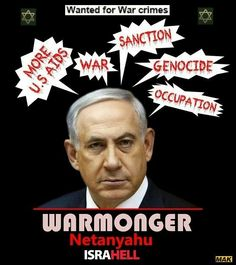 Warmongering ISRAEL committing GENOCIDE of PALESTINIANS for GREED!!!
