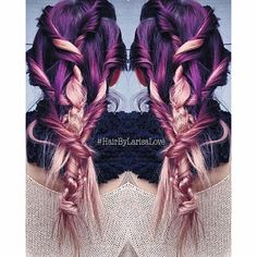 purple to pale pink color melt