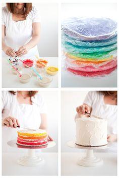 Rainbow cake. Rainbow cake. Rainbow cake.