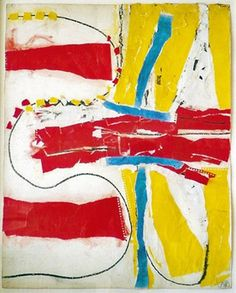 Fritz Bultman 1962 - collage of gouache, painted and pastel papers and crayon 29 x 23 in.