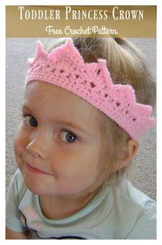Toddler Princess Crown Free Crochet Pattern