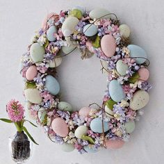 Shabby Chic easter egg wreath