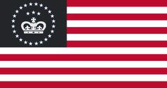 US Monarchy flag by on DeviantArt Alternate Worlds, Alternate History, Cool Countries, Countries Of The World, Create A Flag, Total War, French Revolution, Native American Tribes, He Is Able