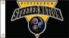 Pittsburgh Steelers Flag 3ft x 5ft Polyester NFL Banner Flying Custom flag 90x150cm free shipping 034