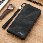 2017 Pacento Men Wallets Luxury Leather Genuine Brand Famous Design Striped Blue Short Male Money Purse Card Clip Portfolio Man – Shop Awesome Deals