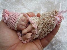 """Julie"" Mini 5 5"" Polymer Clay Baby Art Doll Sculpt OOAK by Ursula 
