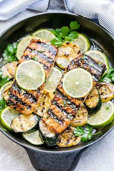 Honey Lime Salmon is an easy weeknight dish that you can make on the grill or roast in the oven. Coated in a sweet & tangy sauce and perfectly tender!