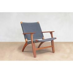 Here Is An Heirloom Quality Solid Hardwood Lounge Chair In The Classic  Danish Modern Style.