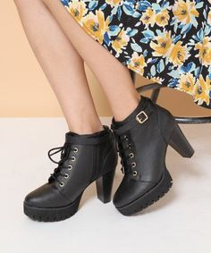 Heather シャークソールレースアップブーツ / Lace-up Boots on ShopStyle