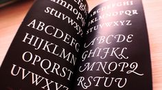 Garamond Type Specimen Book by Cindy Suen, via Behance