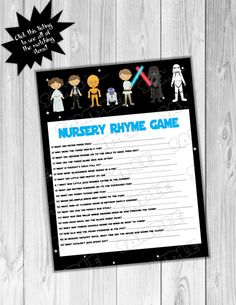 Starwars Baby shower games Star wars nursery by greenmelonstudios