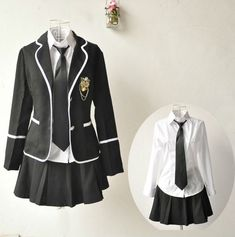 2014 fashion design girls high school uniform suit
