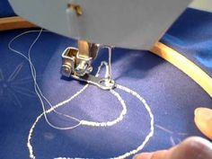 Bordado con una máquina de coser doméstica normal.