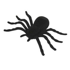 4 araignées noires, décoration Halloween, dim. 10x7 cm, plastique.