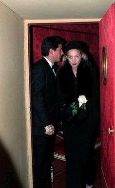 1997 - JFK Jr. and wife Carolyn in Milan