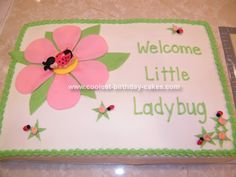 baby shower cakes for girls | the flowers on the cake the cake was a white cake with buttercream ...