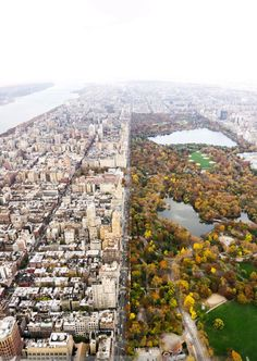 Aerial view of the Central Park in Autumn, New York City, USA New York From Above, Oh The Places You'll Go, Places To Visit, New York City, Destinations, Empire State Of Mind, I Love Nyc, City Landscape, Paris