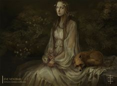 "Eve Ventrue, ""The Girl with the Fox"".  I love this one.  I really should see about getting a print of it . . ."