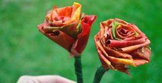 Come realizzare un bouquet di rose con le foglie secche