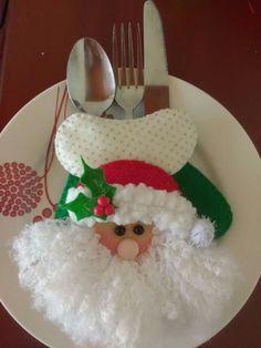 Segnaposto natalizio in feltro e pannolenci.