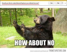 Make Internet Explorer your default browser…
