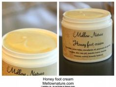 DIY honey foot cream