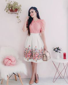 Girls Fashion Clothes, Teen Fashion Outfits, Modest Fashion, Clothes For Women, Frock Fashion, Fashion Dresses, Modest Outfits, Skirt Outfits, Split Prom Dresses