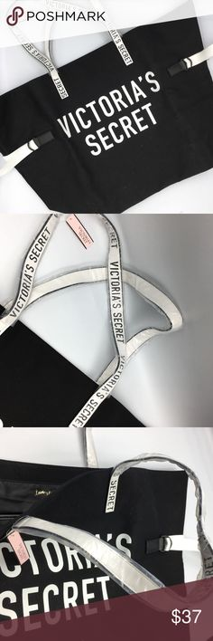 NWT Brand new black Victoria's secret tote Perfect for the beach, pool, a picnic. Practical and stylish.  Make a reasonable offer and I'll either counter, accept or decline. No trades.  Please check out the rest of my closet, I have various other brands. Victoria's Secret Bags Totes