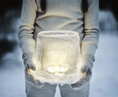 Freeze Ice Lanterns - Add some magical light to dark winter nights with an easy-to-make ice globe. #kidfriendly #winter