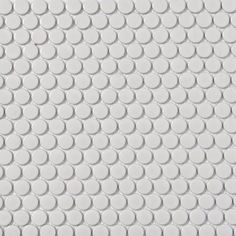 Style Selections White Glazed Porcelain Mosaic Penny Round Wall Tile (Common: x Actual: x lowes Mosaic Wall Tiles, Marble Mosaic, Master Bath Shower, Shower Niche, Penny Tile, Shower Pan, Vintage Tile, Mosaic Patterns, Lowes Home Improvements