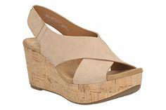 Clarks Damen Freizeit Clarks Caslynn Shae Nubukleder Sandalen In Hellbraun Größe 41 - http://on-line-kaufen.de/clarks/41e-clarks-caslynn-shae-damen-slingback-sandalen