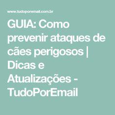 GUIA: Como prevenir ataques de cães perigosos | Dicas e Atualizações - TudoPorEmail