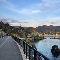 Cycling at sunset on the waterfront... it could be worse  #VisitLevanto