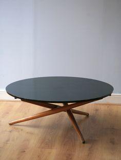 Jurg Bally; Adjustable Coffee/Dining Table, 1955.