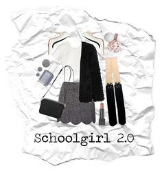 Schoolgirl 2.0 by vikrirozak on Polyvore featuring Neil Barrett, LE3NO, Topshop, Acne Studios, Mulberry, Burberry and Essie