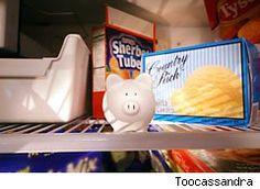 Freezer tips to save money such as freezer blocking