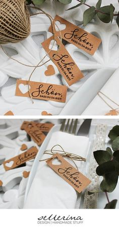 Table cards for wedding-name cards (natural paper, vintage, boho, place cards) - birthday ideas 10 pcs. Table cards for wedding-name cards (natural paper vintage boho place cards) The small cards in a pack of 10 go p. Diy Wedding Programs, Wedding Name Cards, Wedding Place Names, Diy Place Cards, Diy Cards, Paper Cards, Match Parfait, Small Cards, Seating Chart Wedding