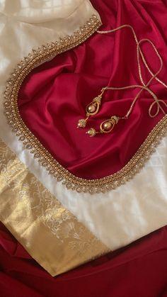 Wedding Saree Blouse Designs, Simple Blouse Designs, Stylish Blouse Design, Fancy Blouse Designs, Blouse Neck Designs, Brocade Blouse Designs, Hand Work Blouse Design, Designer Blouse Patterns, Embroidery Saree