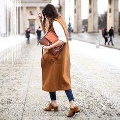 Bag: brown vest long vest chloe faye chloe brown vest jeans blue jeans mules suede mules streetwear