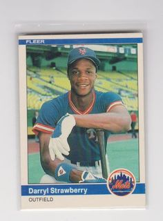 1984 Fleer Baseball # 599 Darryl Strawberry Rookie Card in Sports Mem, Cards & Fan Shop, Cards, Baseball | eBay