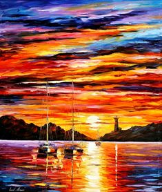 Leonid Afremov (born 12 July 1955 in Vitebsk, Belarus) is a Russian–Israeli modern impressionistic artist who works mainly with a palette knife and oils.